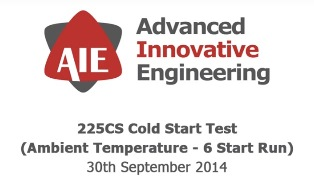 225CS Cold Start Test - Advanced Innovative Engineering (UK) Ltd
