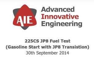 225CS JP8 Fuel Test - Advanced Innovative Engineering (UK) Ltd